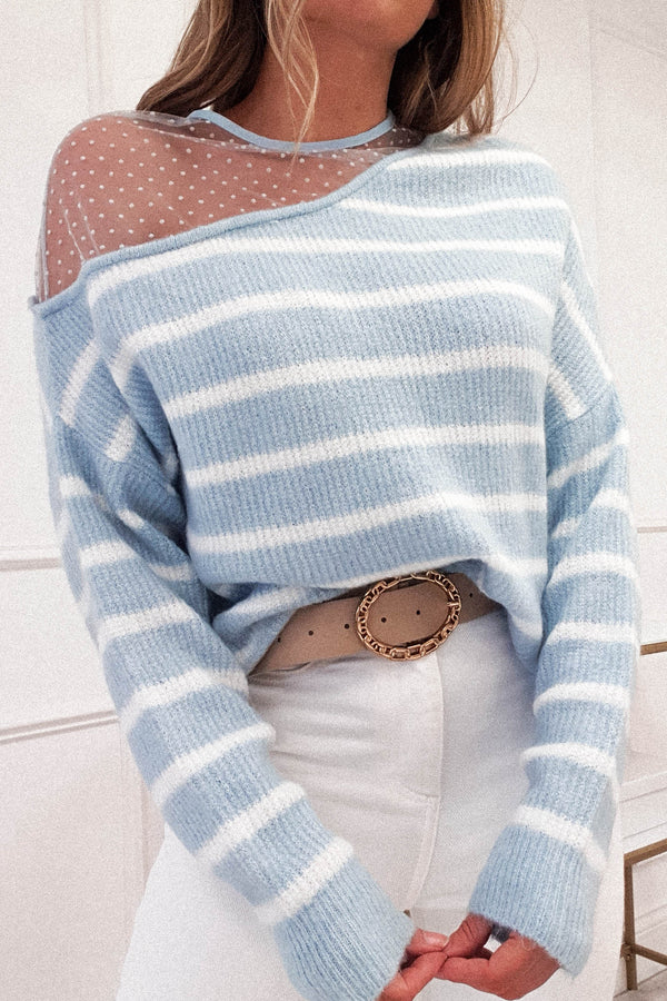 Sophie Striped Jumper | Blue