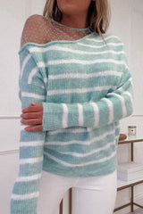 Sophie Striped Jumper | Mint