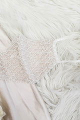 Luxury Embroidered Bridal Face Mask | Ivory