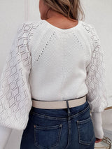 Elsie Knitted Cardigan | White