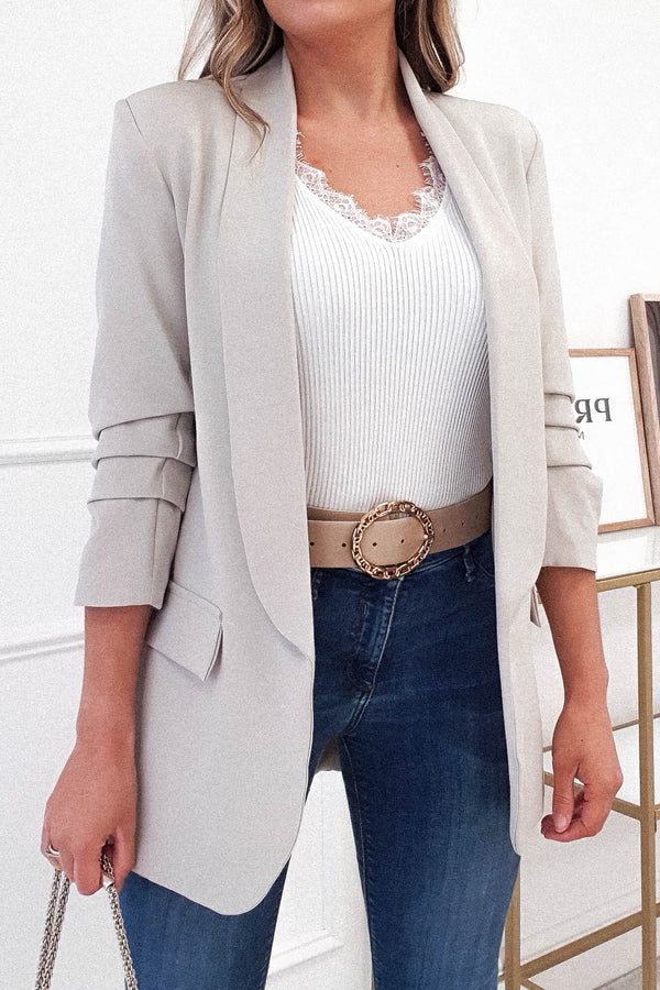 Darcia Tailored Blazer | Beige