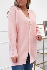 Nester Soft Knitted Cardigan | Pink