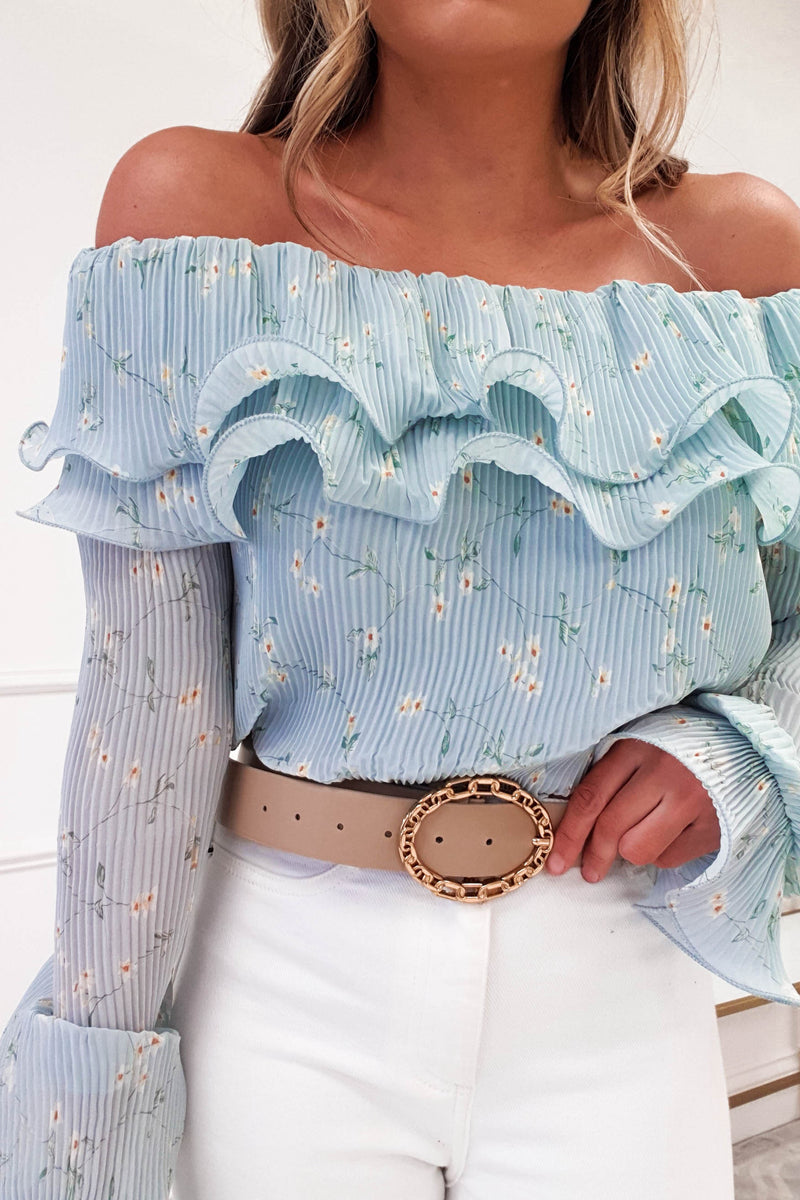 Flora Frill Off The Shoulder Top | Blue Print