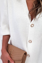 Nester Soft Knitted Cardigan | White