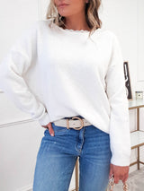 Lillie Bow Back Jumper | White