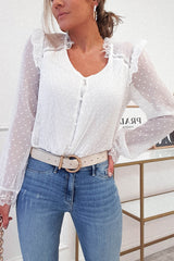 Marcelle Lace Blouse | White