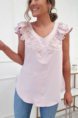 Lila Lace Detail Top | Lilac