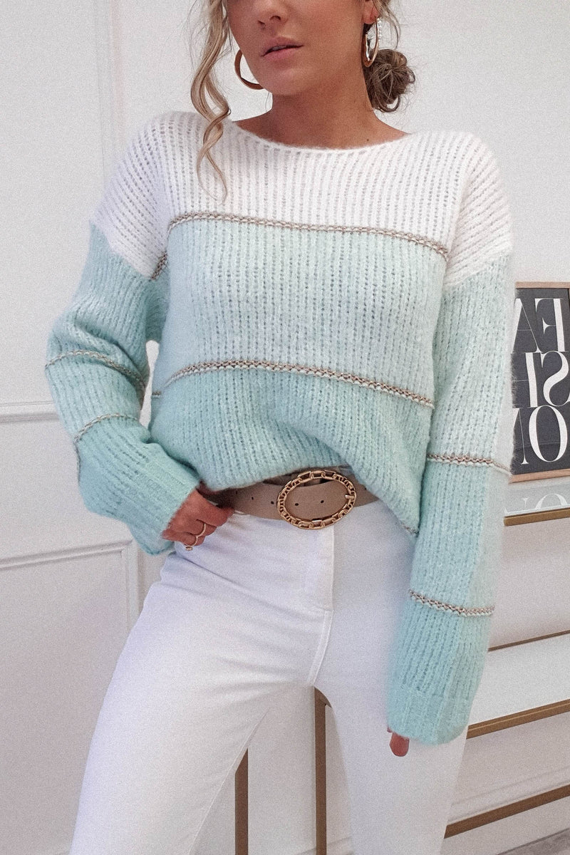 Berta Soft Stripe Jumper | Mint