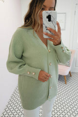 Nester Soft Knitted Cardigan | Sage