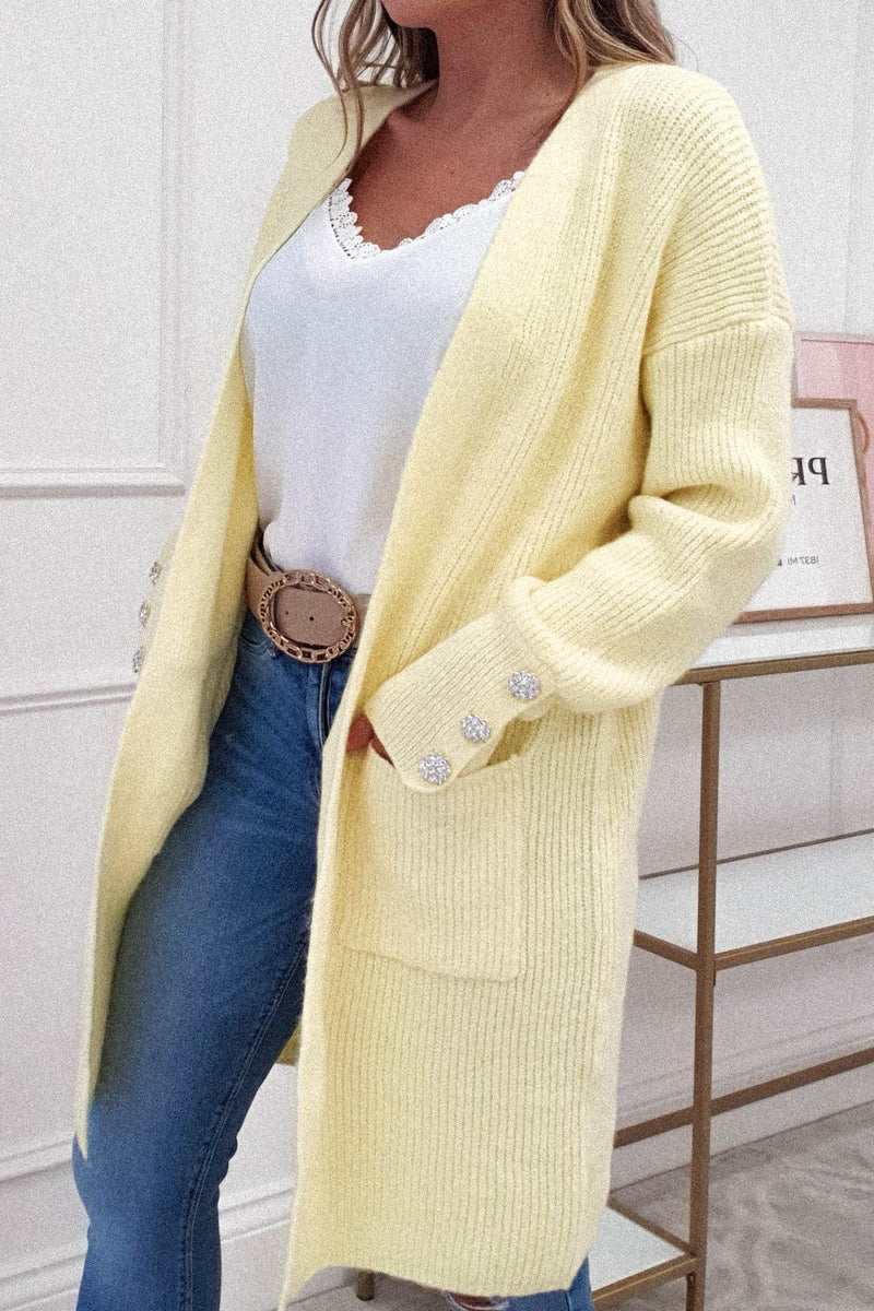 Primrose Soft Knitted Cardigan | Yellow