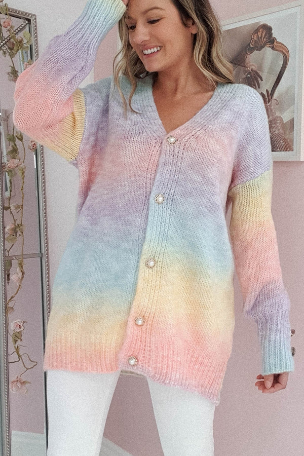 PRE-ORDER Nester Soft Knitted Cardigan | Rainbow