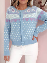 Ashley Chunky Knitted Cardigan | Blue