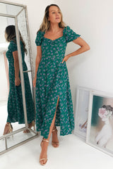Rebecca Floral Midi Dress | Green