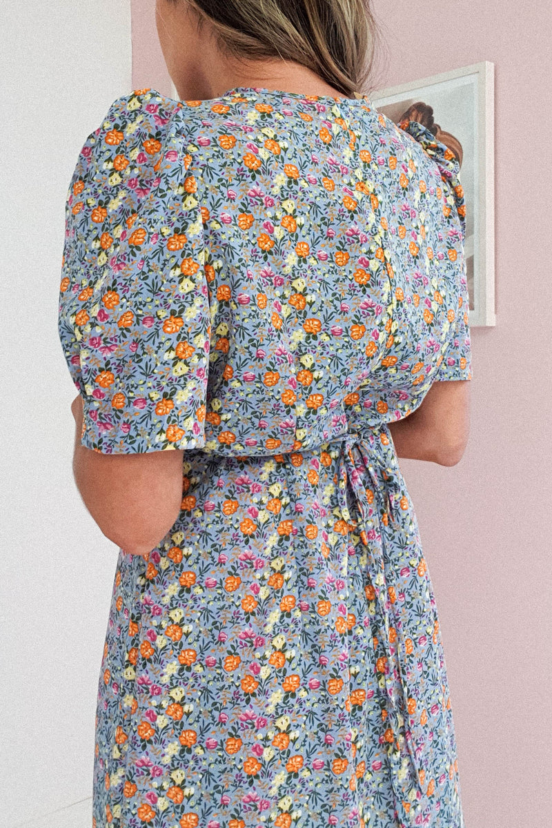 Arabella Floral Mini Dress | Blue