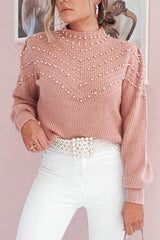 Clara Pearl Detail Jumper | Rose