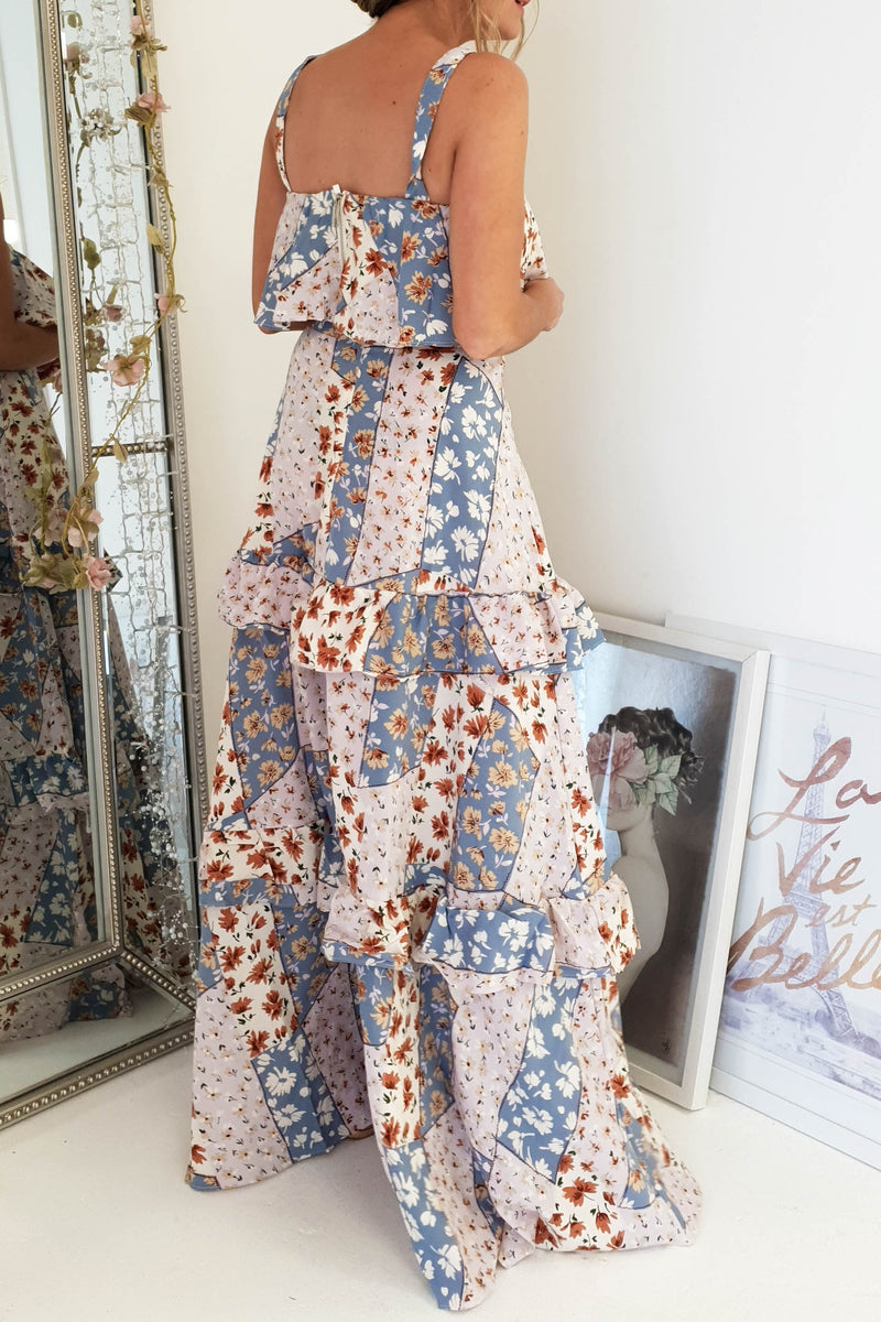 Sydney 2 Piece Dress | Mixed Print