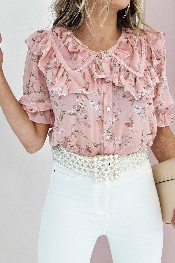 Sweet Pea Floral Blouse | Pink