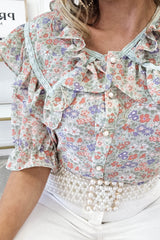 Margo Floral Blouse | Green