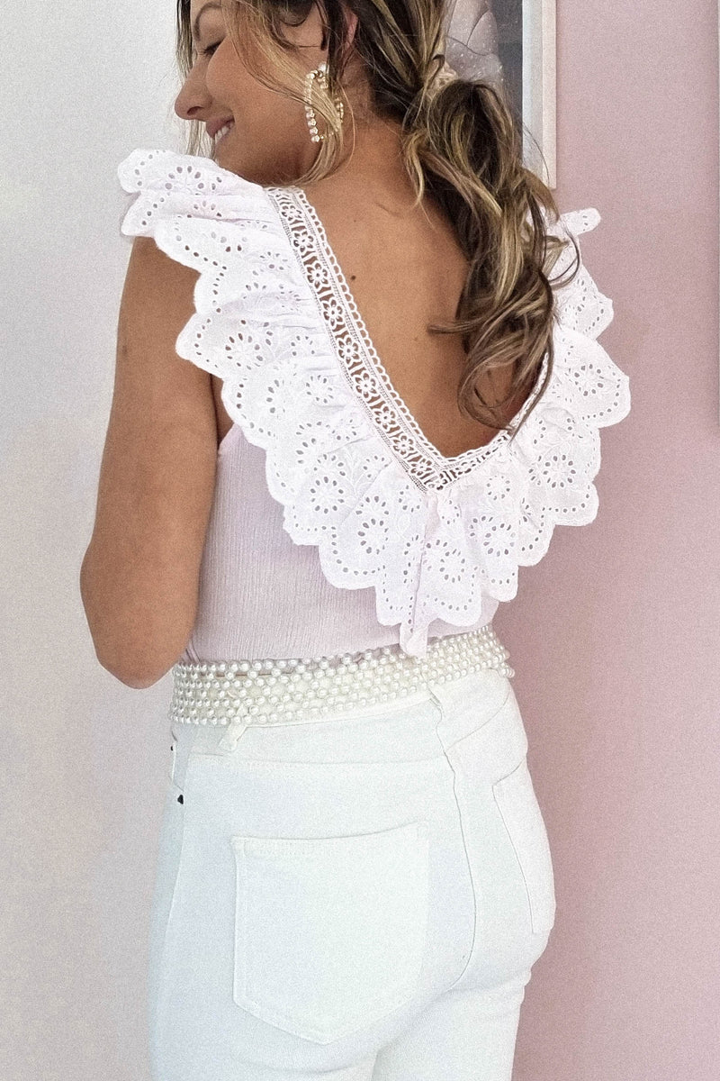 Mary-Kate Ruffle Top | Pink