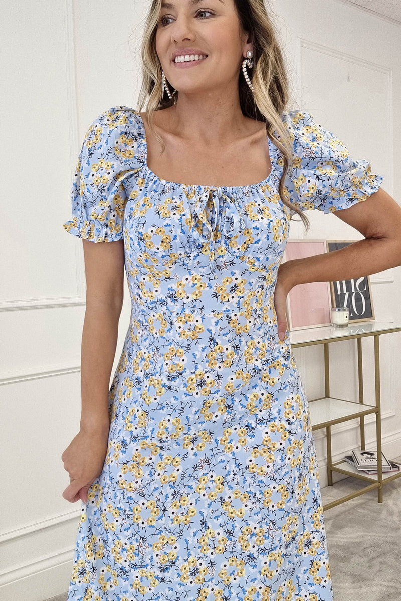 Blossom Floral Midi Dress | Blue