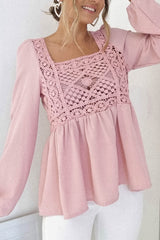 Stephanie Crochet Top | Soft Pink