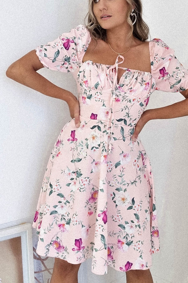Chelsea Floral Mini Dress | Pink