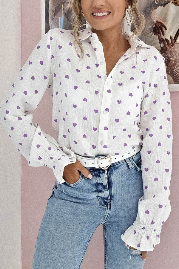 Sandy Heart Shaped Shirt | Lilac