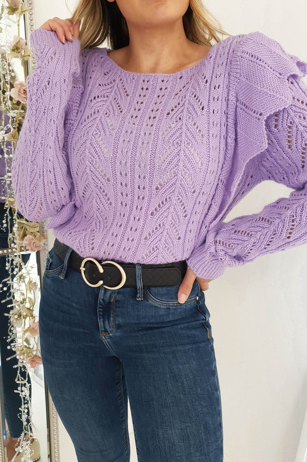 Phoebe Knitted Jumper Lilac