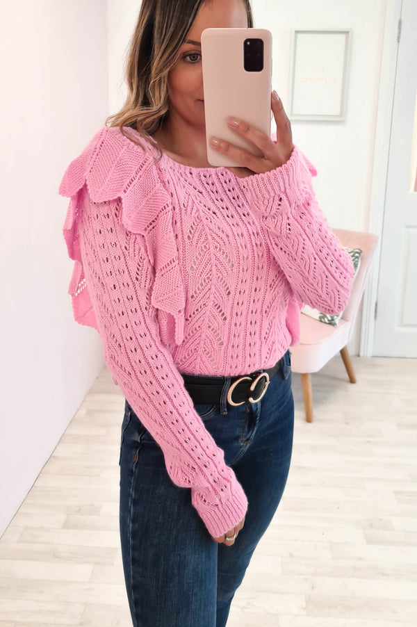 Phoebe Knitted Jumper Pink