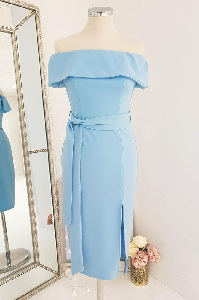 Avril Midi Dress Dusty Blue