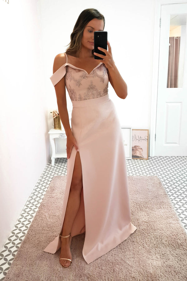 Amanda Off The Shoulder Maxi Nude