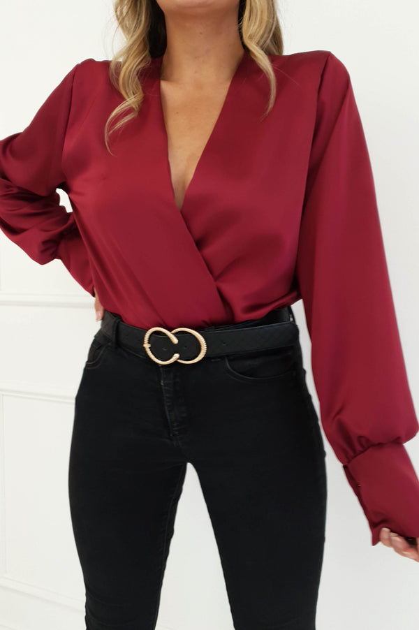 Carley Long Sleeve Top Wine