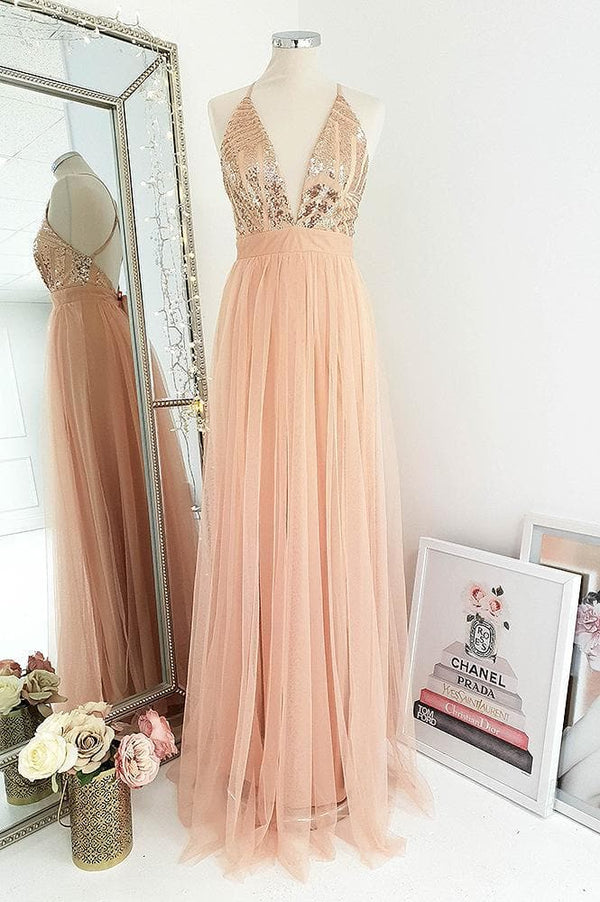 Ayla Sequin Maxi Rose Gold
