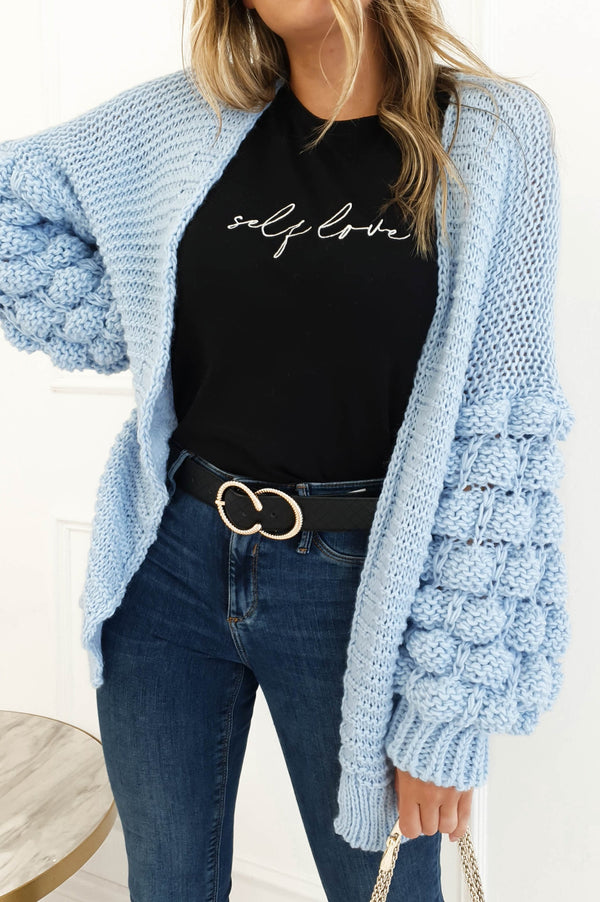 Francis Knitted Cardigan Blue