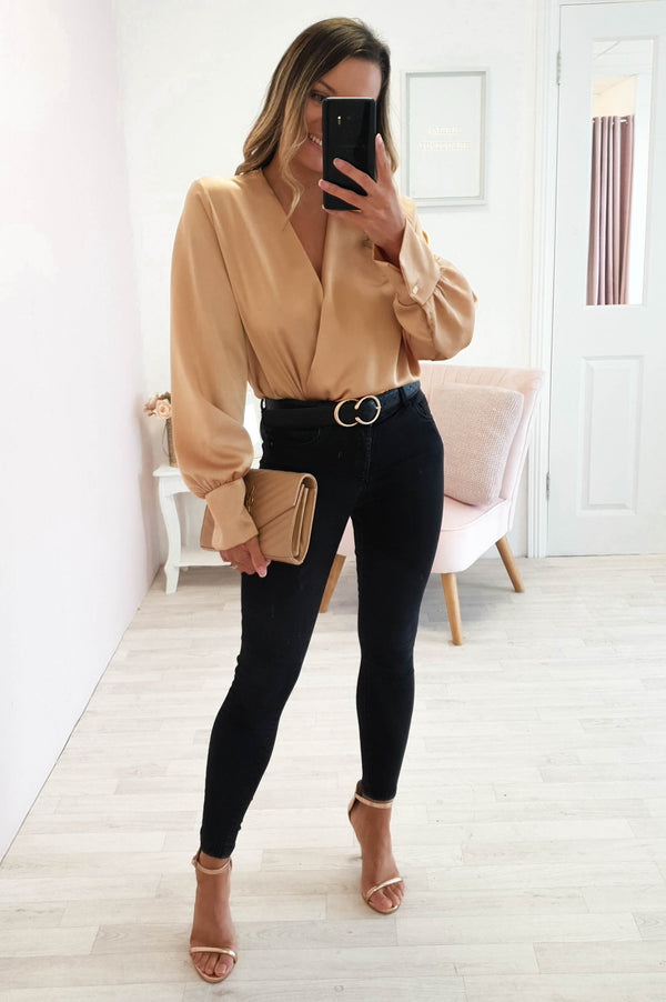 Carley Long Sleeve Top Gold