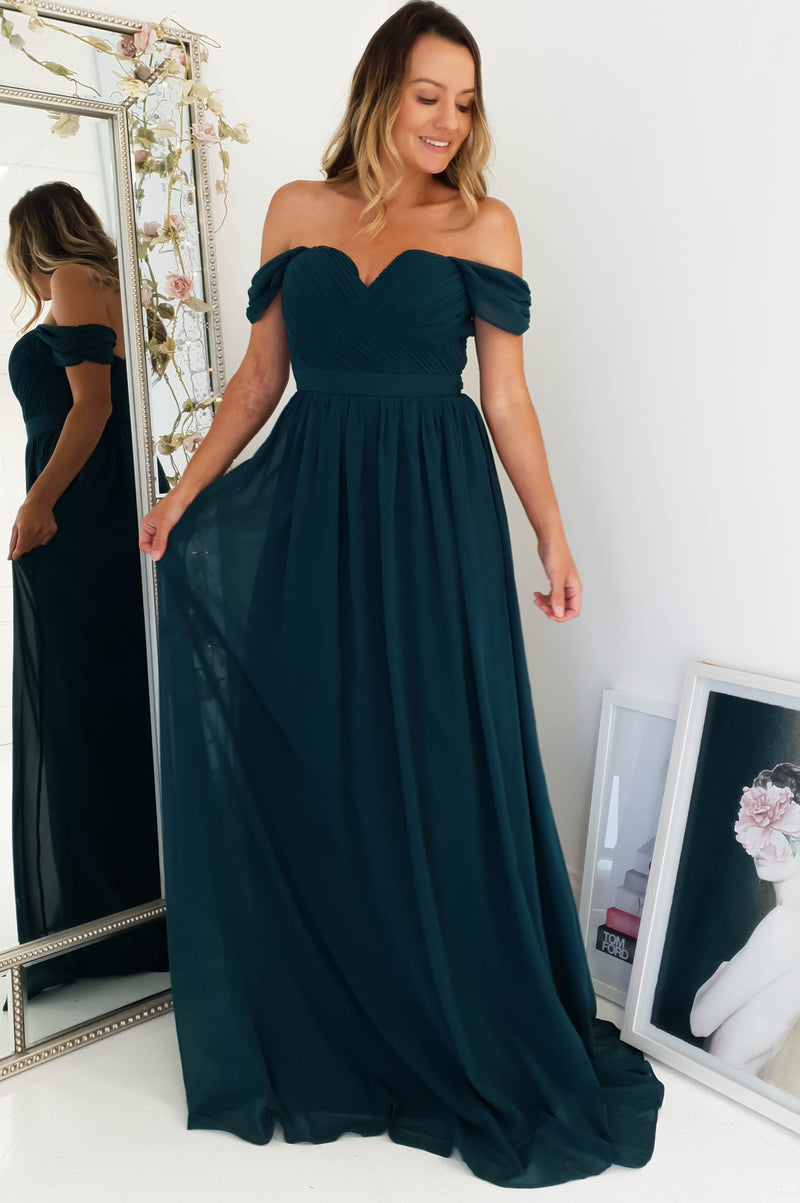 Ella Off The Shoulder Maxi Dress
