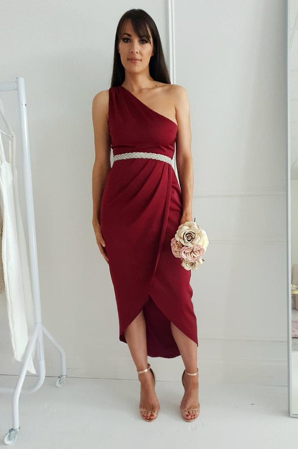 Fleur Midi Dress Dark Red