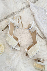 Emily Ivory Pearl Embellished Heels