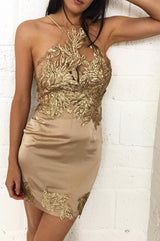 Jennifer Mini Dress Gold