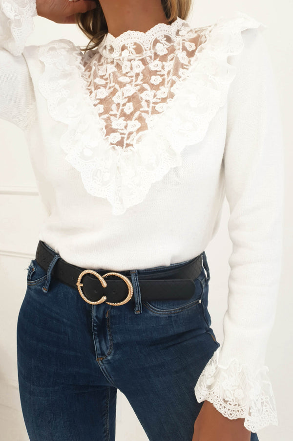 Alicia Lace Embroidery Jumper