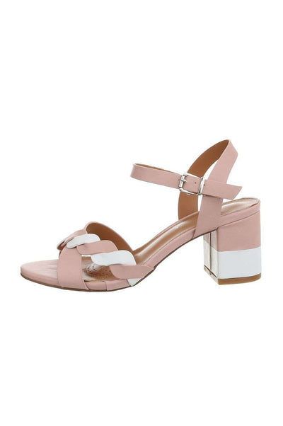 Hanna Sandals Pink and White
