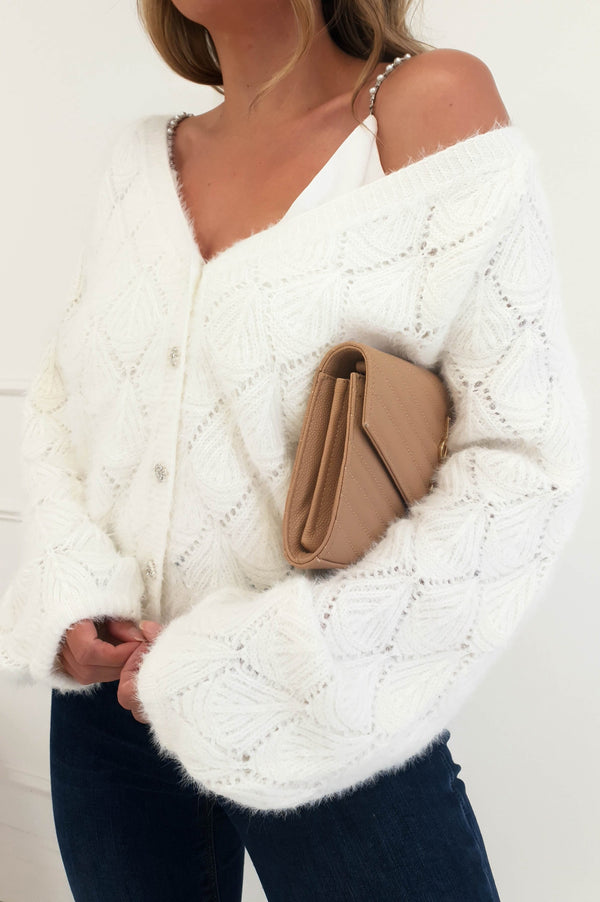Cheree Soft Cardigan Cream