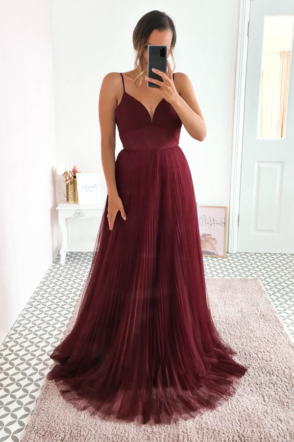 Zahra Bridesmaid Dress Burgundy