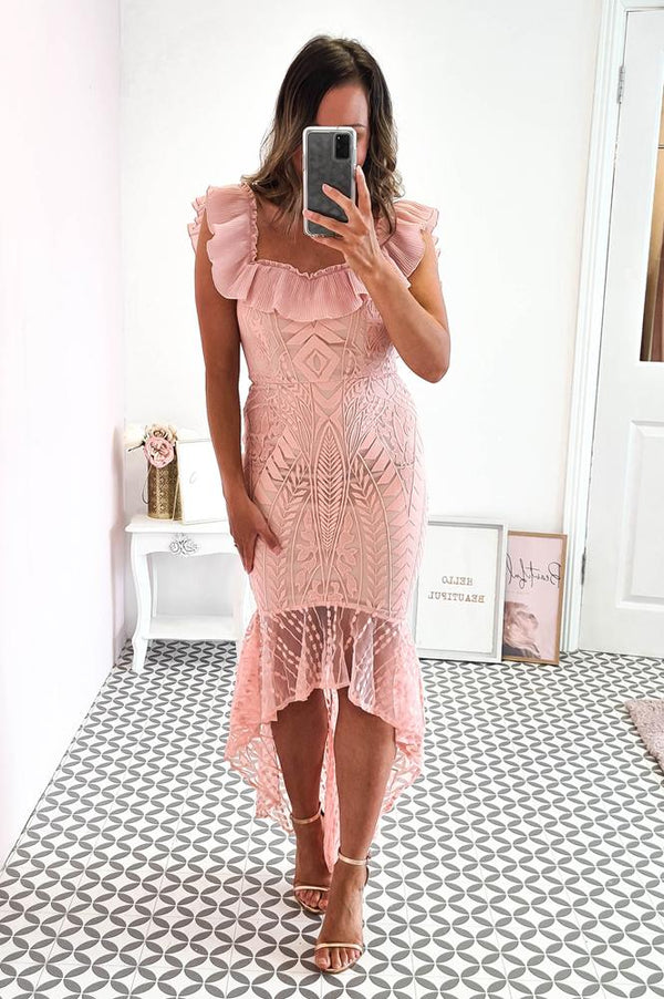 Adriana Midi Dress Blush