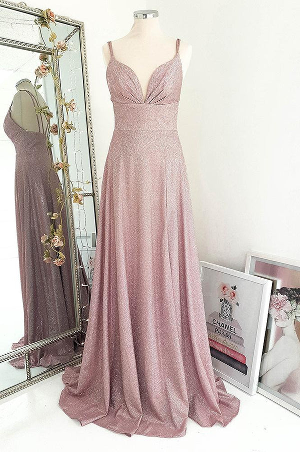 Pieta Gown Metallic Glitter Blush