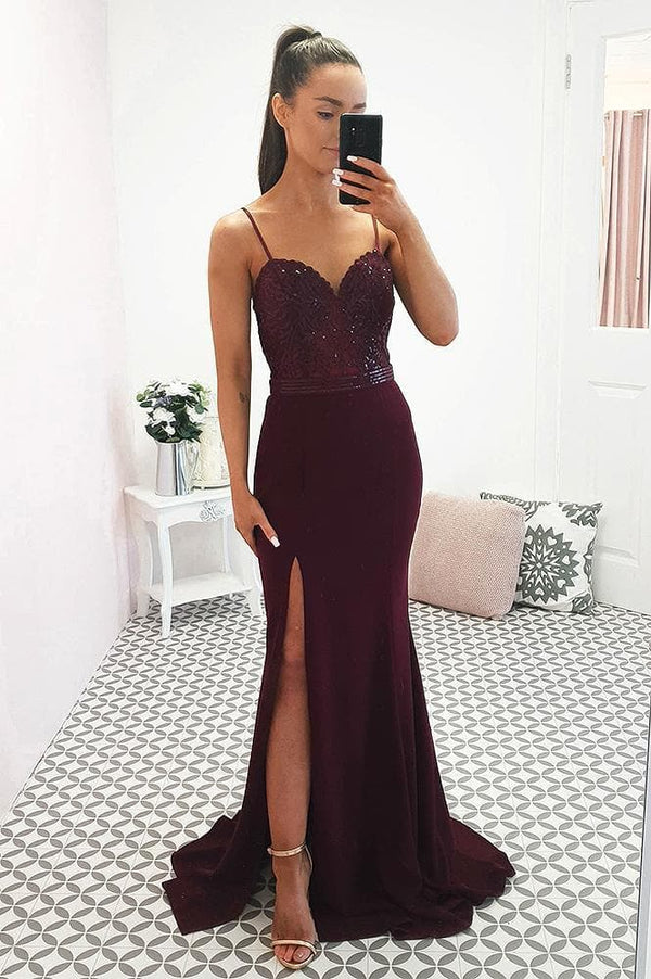 Catalina Gown Burgundy
