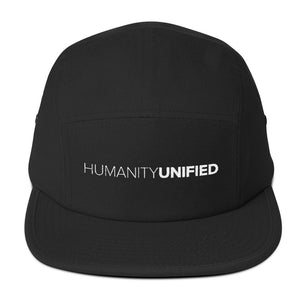 HU Five Panel Cap (White Logo)