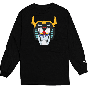 Voltron Black Headcase Longsleeve Tee