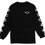Voltron Power Five Black Longsleeve Tee