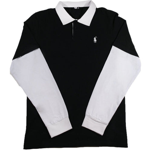 Essex L/S Layered Pique Polo Shirt